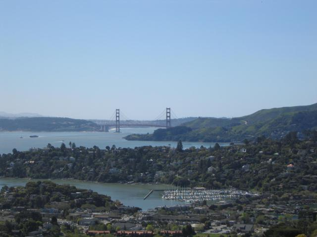Golden Gate Bridge as seen from Tiburon