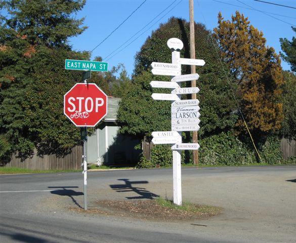 sonoma street signs