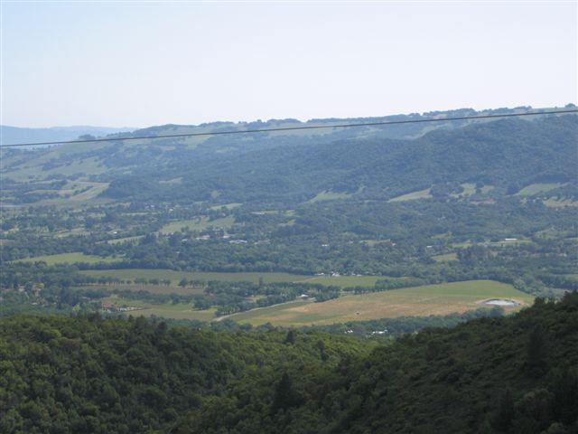 Sionoma Valley from Cavedale