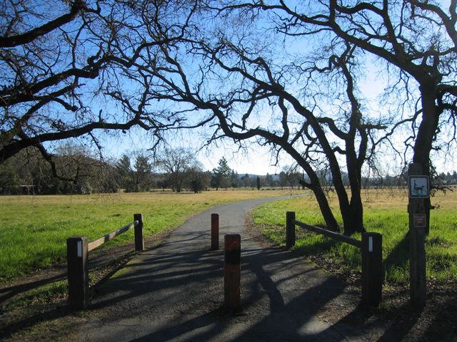 bike path as you enter General Vallejo State Park