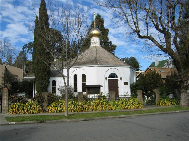 gold topped church in san anselmo