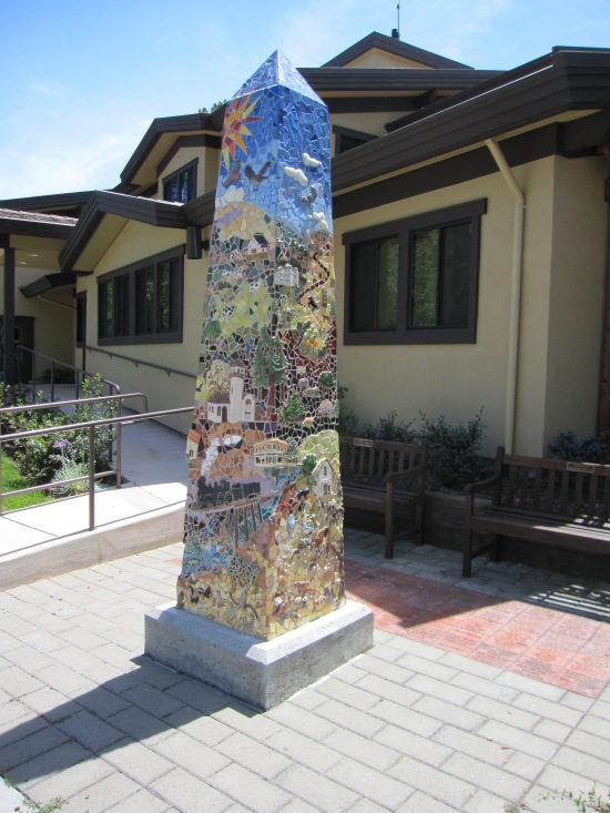 Obelisque outside the fire station in San Anselmo by Kelley Eling, Marin County Realtor