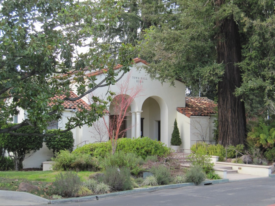 Ross Town Hall in the Spring by Kelley Eling, Marin County Realtor