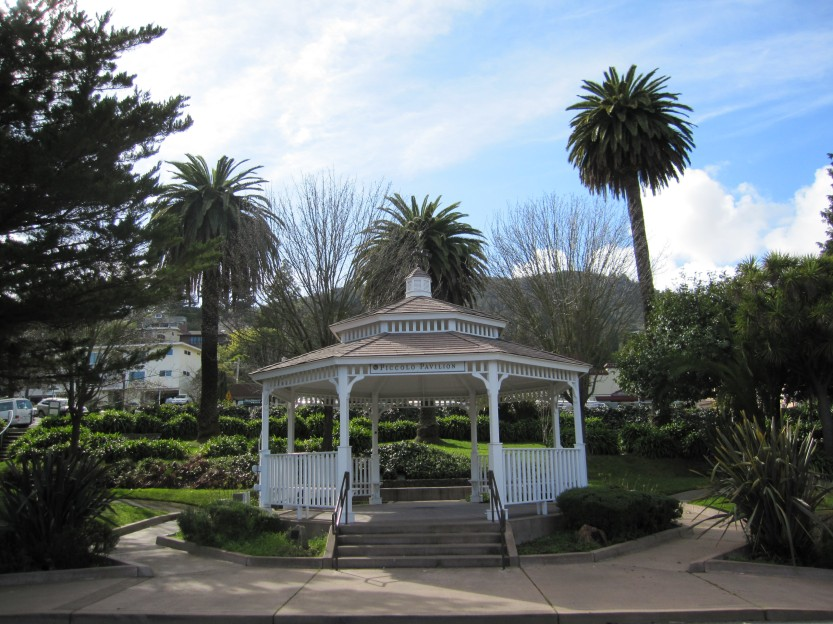 Gazebo in Old Town Corte Madera taken by Kelley Eling, Marin County Realtor