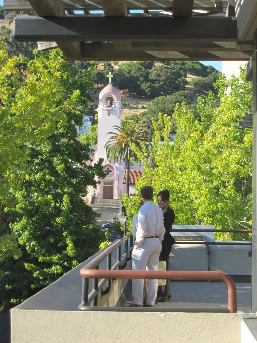 Penthouse Deck View of the Mission San Rapahel Arcangel, by Kelley Eling, Marin County Realtor