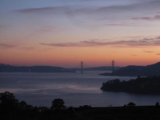 Winter Evening In Tiburon Overlooking The Golden Gate Bridge by Kelley Eling, Marin County Realtor