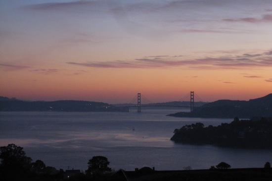 Winter Evening In Tiburon Overlooking The Golden Gate Bridge by Kelley Eling, Marin County Realtor
