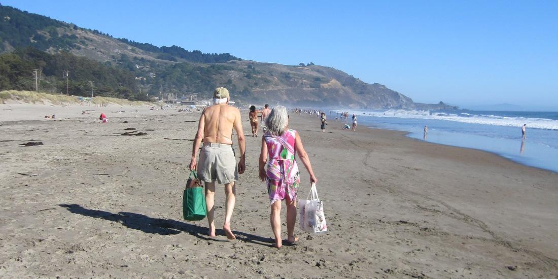 Lovers On Stinson Beach by Kelley Eling, Marin County Realtor