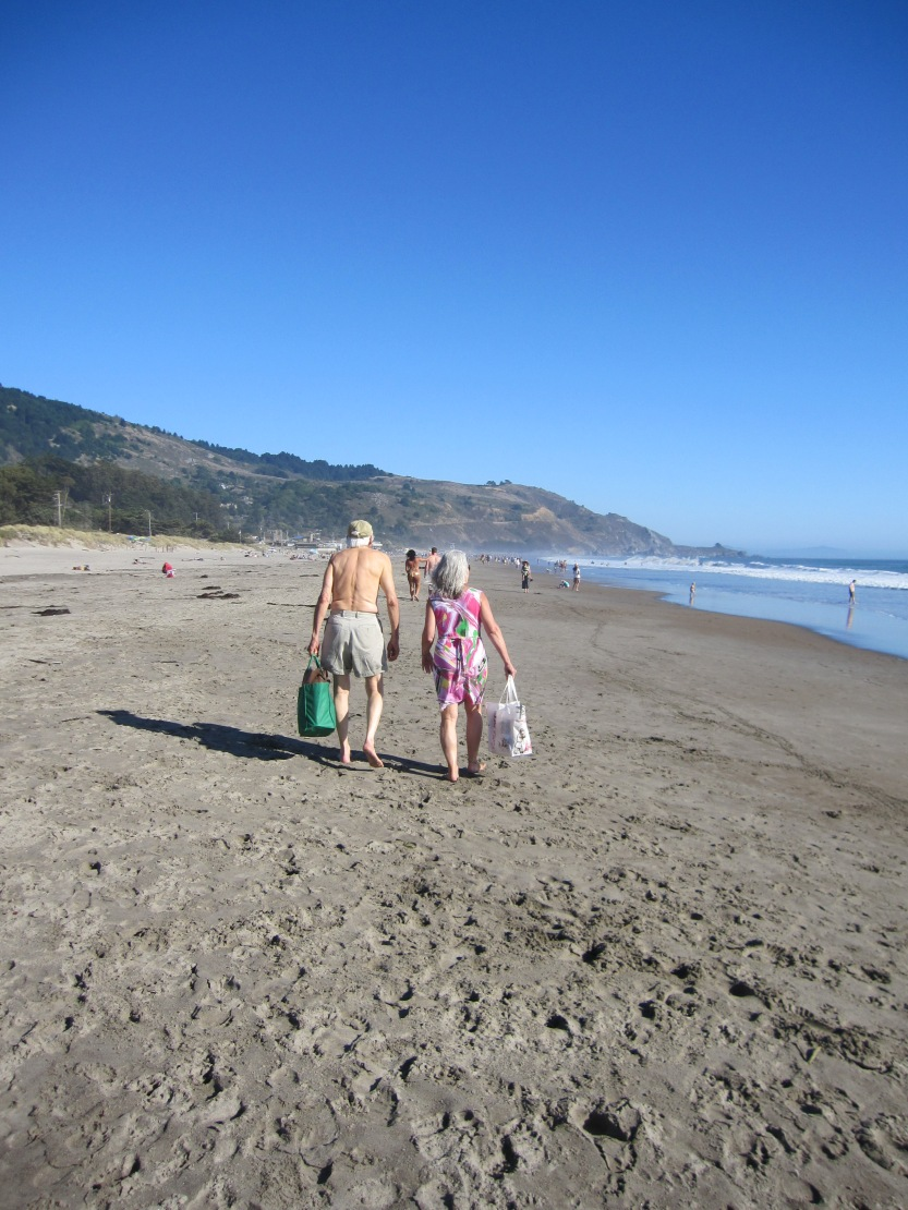 Lovers On Stinson Beach by Kelley Eling, Marin County Realtor