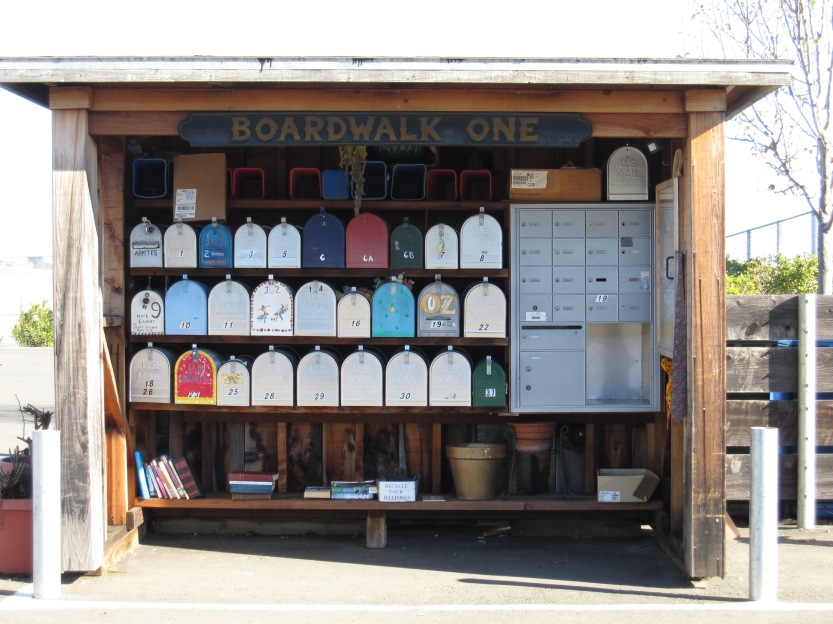 Mailboxes at the Larkspur Boardwalk by Kelley Eling, Marin County Realtor