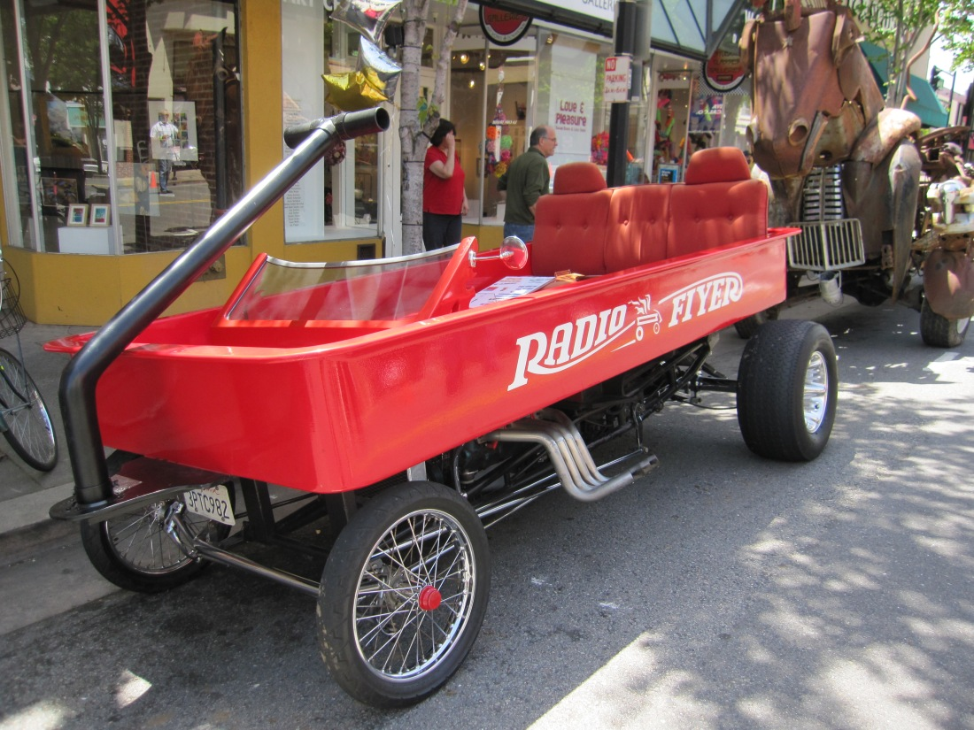 Radio Flyer Car at May Madness 2011 in San Rafael by Kelley Eling, Marin County Realtor