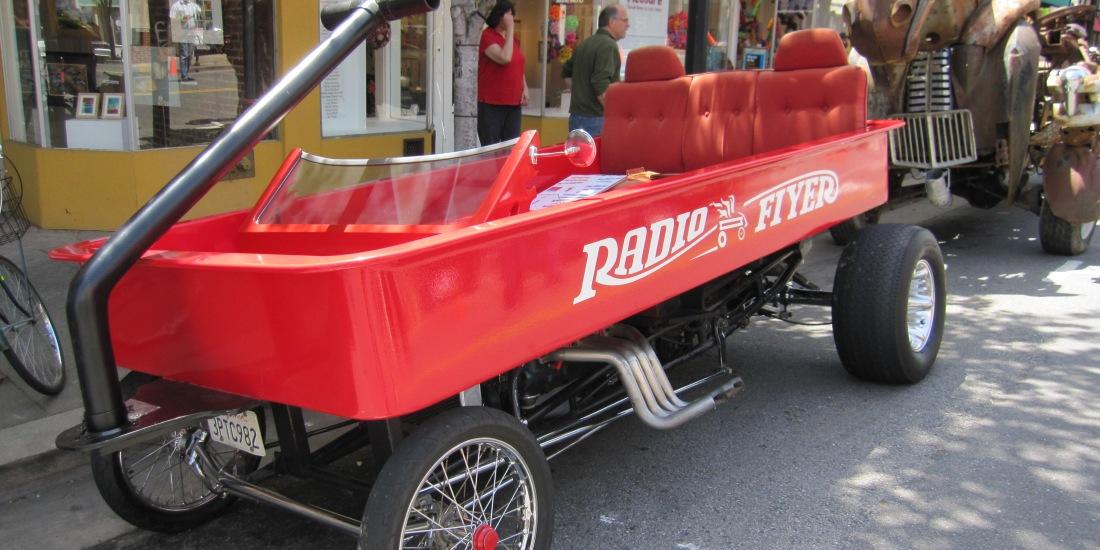 Radio Flyer Car at May Madness 2011 in San Rafael by Kelley Eling, Marin County Realtor