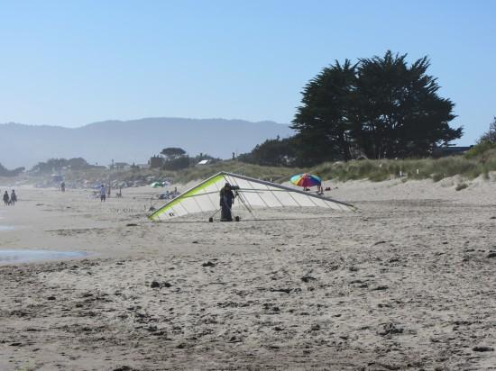 Hang Glider On Stinson Beach by Kelley Eling, Marin County Realtor