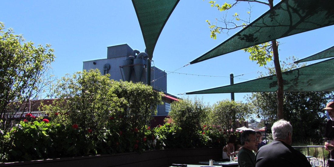 On The Patio At Graffitti in Petaluma by Kelley Eling, Marin County Realtor