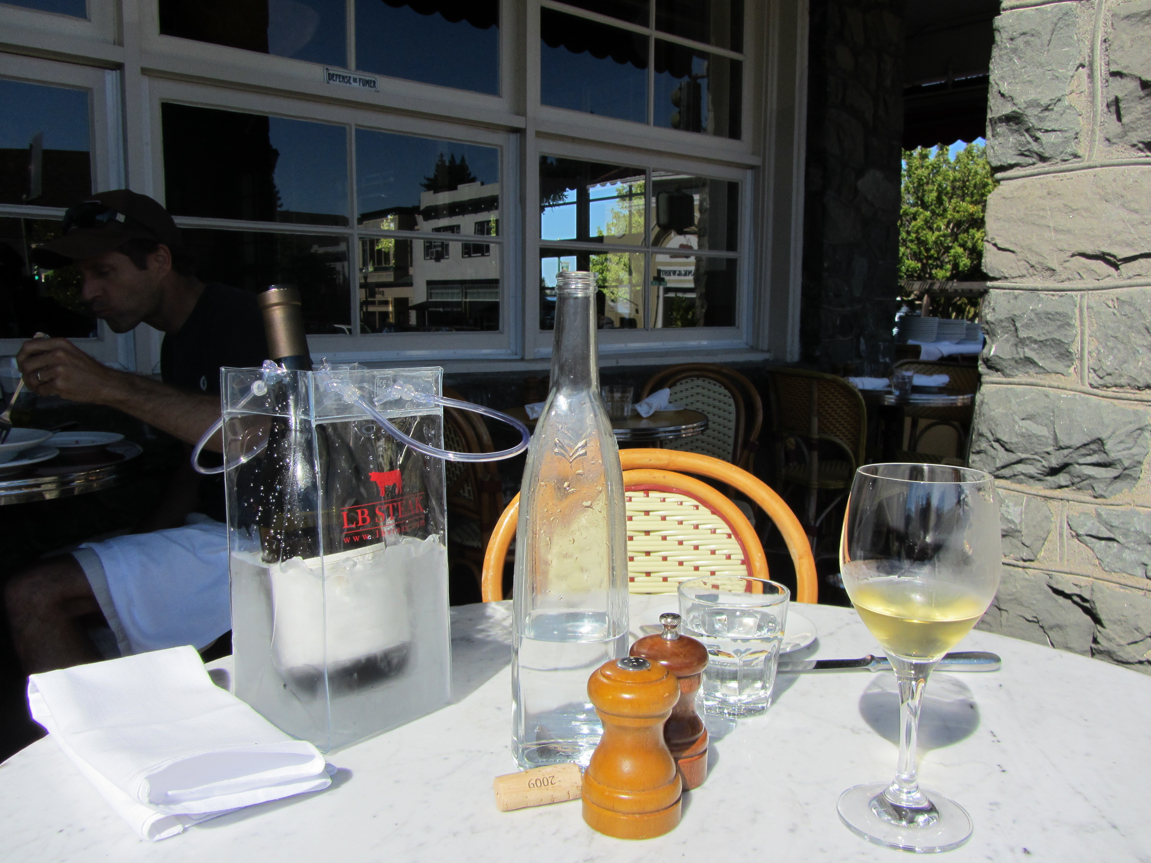 Outdoor Table For Two at Left Bank in Larkspur by Kelley Eling, Marin County Realtor