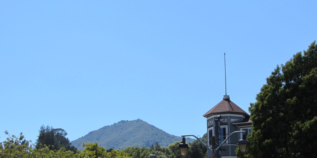 Mount Tamalpais as seen from downtown Larkspur by Kelley Eling, Marin County Realtor