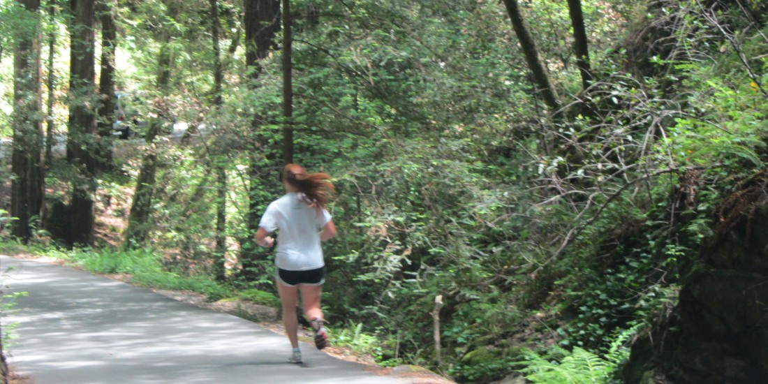 Jogger in the Cascades in Mill Valley by Kelley Eling, Marin County Realtor