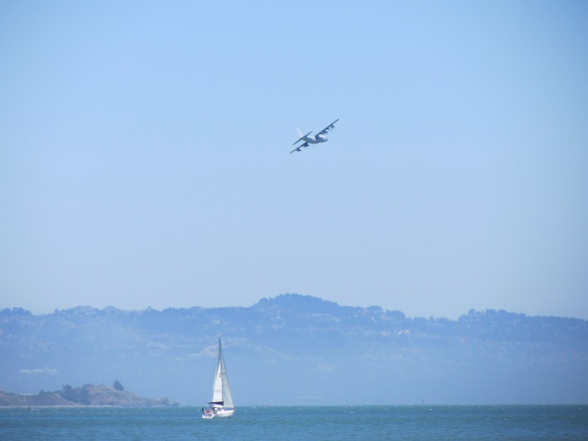 Low Flying Plane Over San Francisco Bay by Kelley Eling, Marin County Realtor