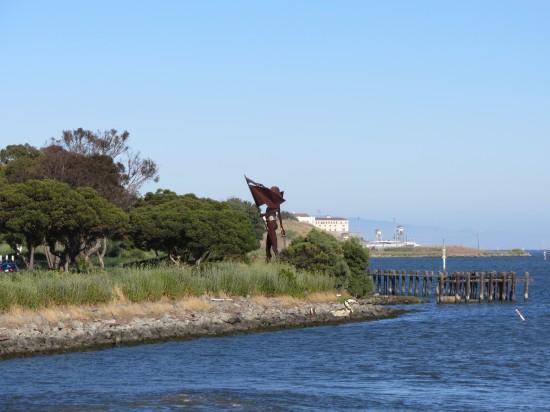 Statue Near Larkspur Landing Ferry Terminal by Kelley Eling, Marin County Realtor