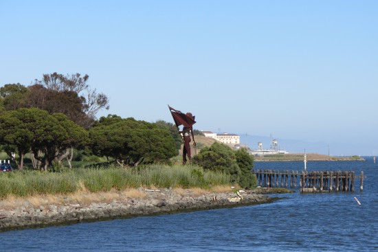 Statue Near Larkspur Landing Ferry Terminal by Kelley Eling, Marin County Realtor