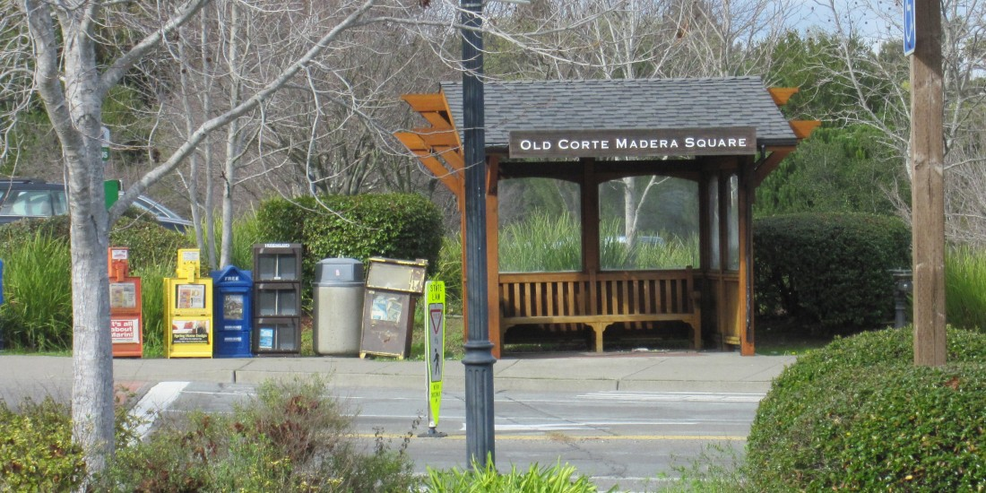 Old Corte Madera Square Bus Stop by Kelley Eling, Marin County Realtor