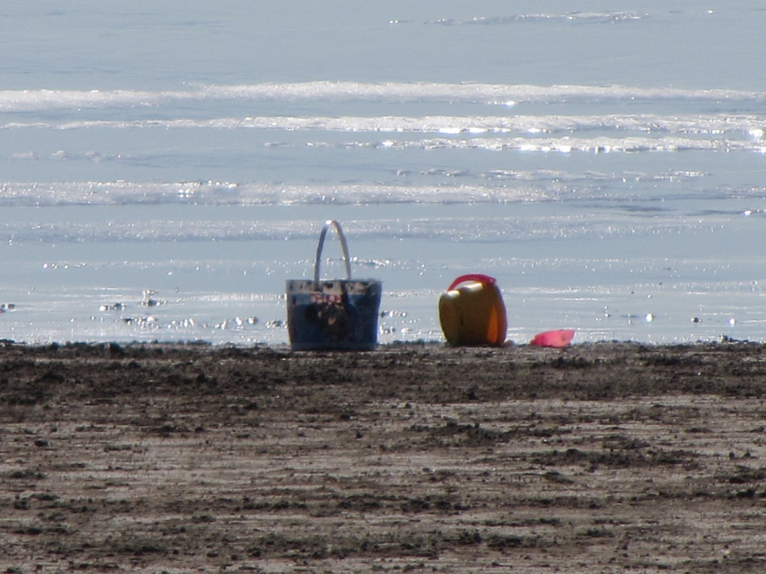 Sand Buckets on Stinson Beach by Kelley Eling, Marin County Realtor