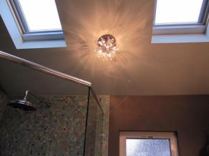 8 hall bath light