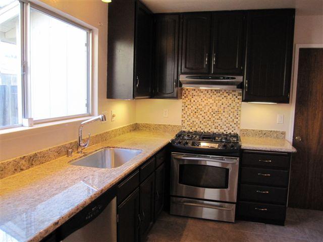kitchen facing stove