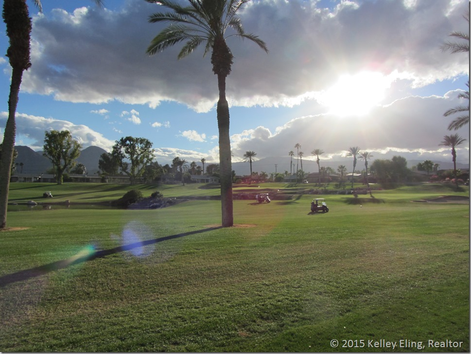 Another beautiful sunset at Palm Desert Country Club by Kelley Eling, Realtor